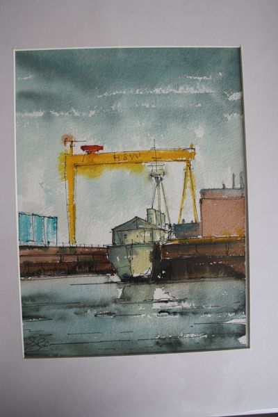 S McClean Original Watercolour Med HMS Caroline