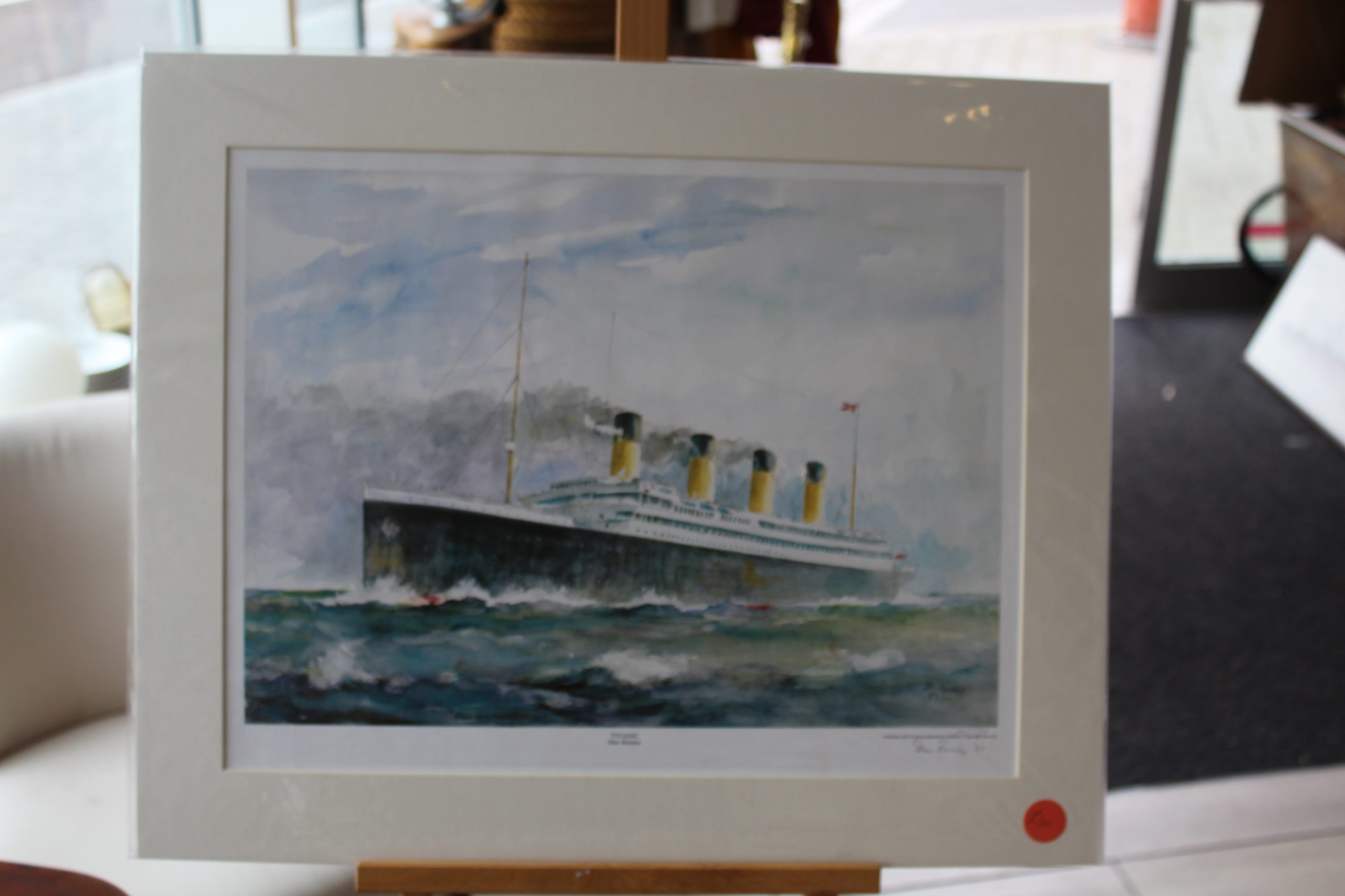 Limited Edition Titanic by Dan Rainey  Mounted 1987