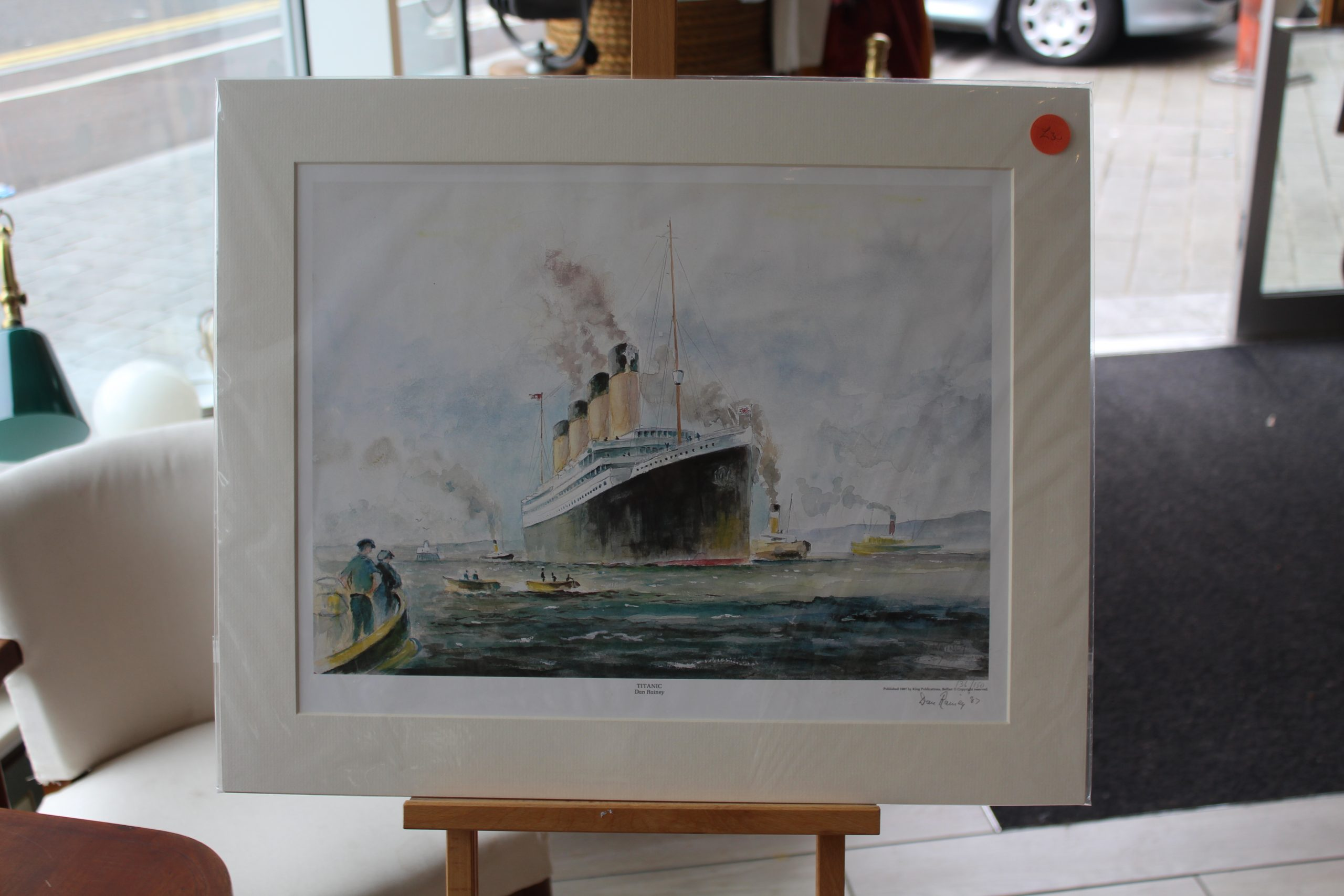 Titanic with Tug Boats-Dan Rainey, Limited Edition, Mounted 1987