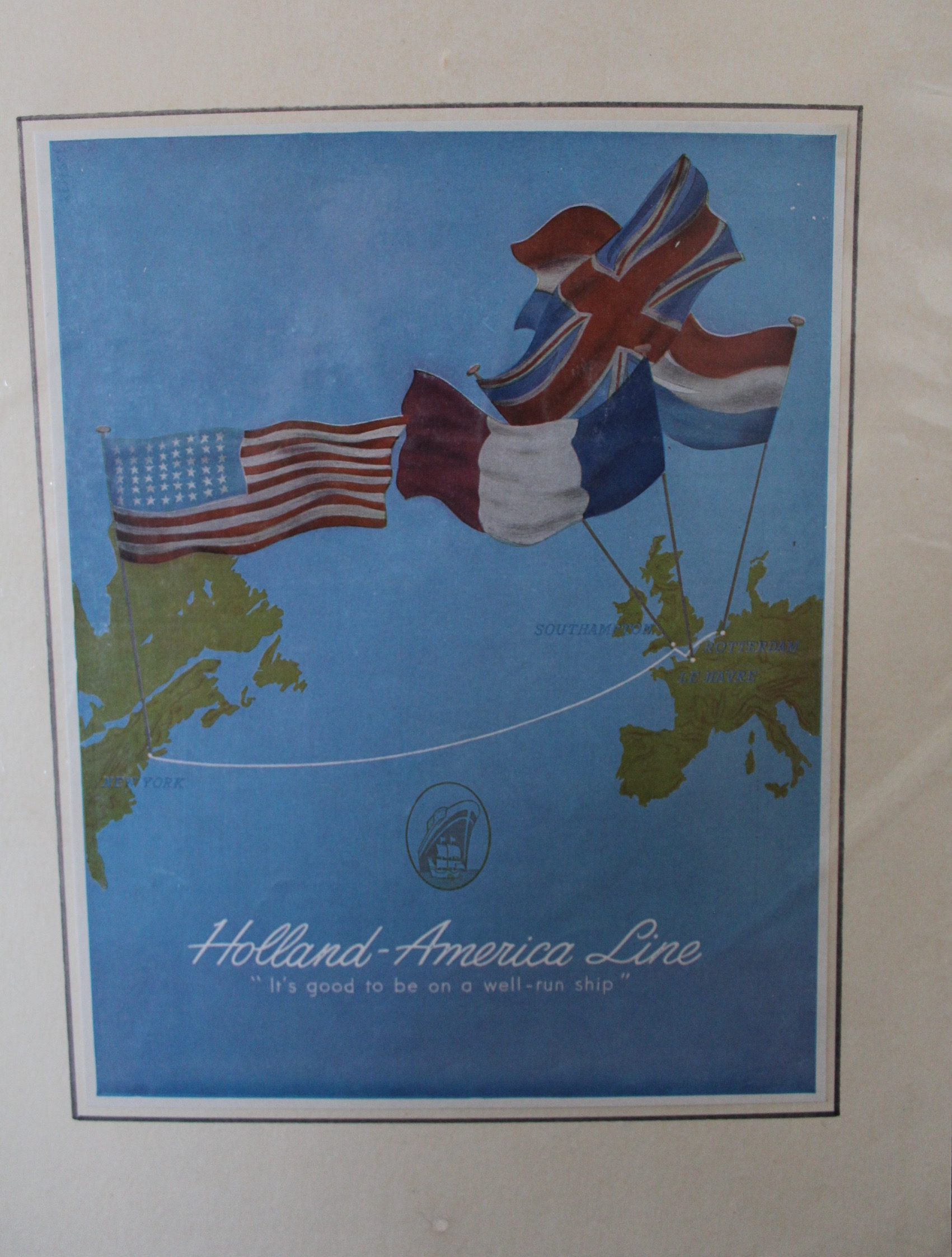 1953 Holland-America Line Poster