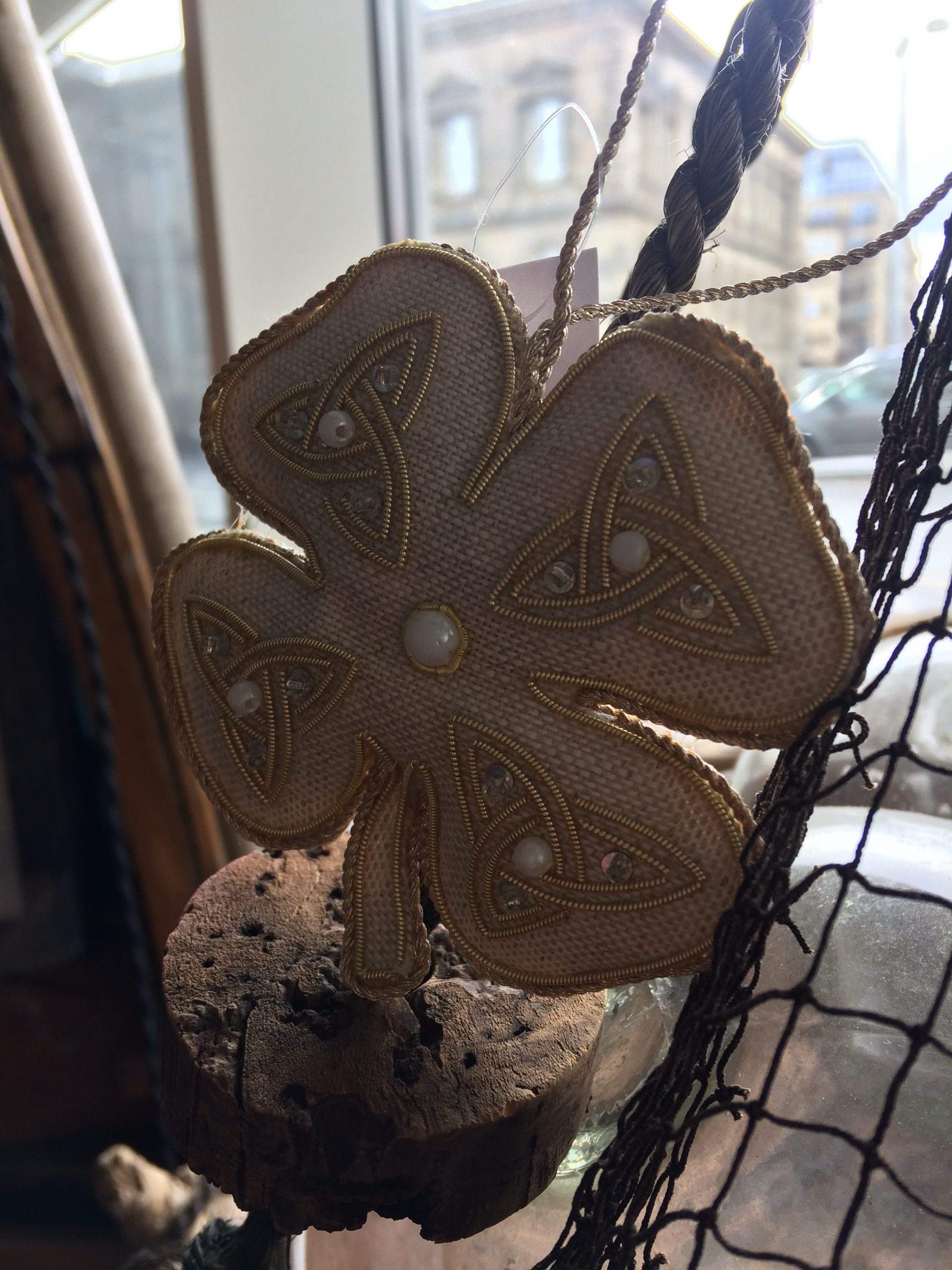 Hand made linen decorations by Katie Larmour , a local Northern Ireland Designer
